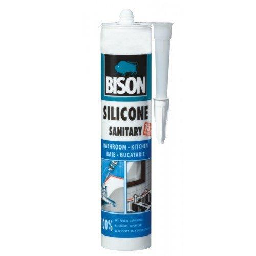 280 ml di silicone sanitario Black Bison Confezione da 1PZ - Pesci Asciutti