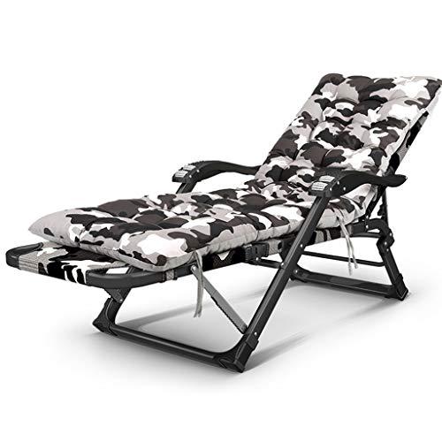 En plein air Sun Lounger Bed Fauteuil relaxant inclinable en Oxford résistant aux intempéries Tissu Zero Gravity Jardin Lit Pliant Réglable (Couleur : Chair+cushion, taille : 30 * 15 flat tube)