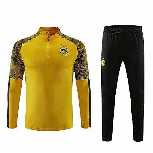 RichWeathy 2019-2020 Benutzerdefinierte Fußball Jersey Jacken Trainingsanzug Langarm Jacken Mantel und Hosen Kits für Herren Erwachsene Kinder Jungen Unisex Geschenke -