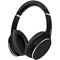 Srhythm Active Noise Cancelling Headphones 4.1 Bluetooth Wireless Over-Ear, Foldable Hi-Fi Deep Bass Stereo Rubber Finish Headsets with Microphone for PC - FREE Gift Airplane adaptor(Black)