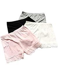 Kidear 3-12 Años Niñas Color Sólido de Encaje de Las de Moda Corto Falda