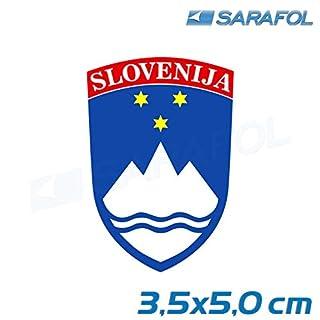 SARAFOL 1 Slowenien Aufkleber (Nr.009) Slovenija Nalepke Sticker 3,5x5,0 cm Slovenia