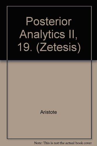Posterior Analytics II, 19. par Paolo C Biondi