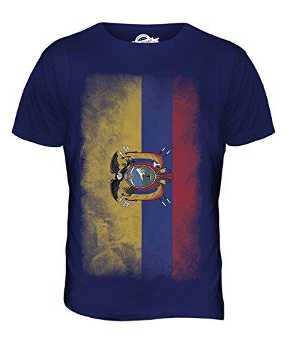 CandyMix Ecuador Verblichen Flagge Herren T Shirt Navy Blau