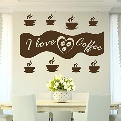 n Cappuccino heißes Getränk Körner CafeFood Wall Decal Fensteraufkleber handgefertigt 58x42cm ()