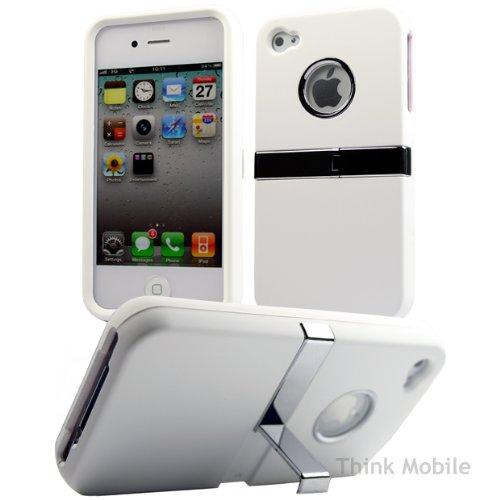 Apple iPhone 6 TPU Gel Case - Blau Apple iPhone 6 Tasche Flip Case Leder Cover Schutz Hülle Etui Schale - thinkmobile Stand Serie Weiss