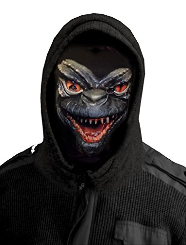 L&S PRINTS FOAM DESIGNS Halloween Monster Design Novelty Fun Stoff Face Maske Snood Neckwarmer hergestellt in ()
