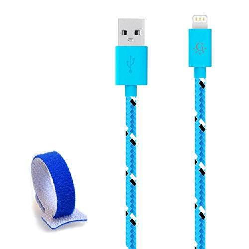 Die # 1 spezifische Nylon geflochten Go Beyond (TM) 10 Feet 8 pin iPhone 5/6 6S USB-Synchronisations-/Ladekabel für iPhone 6S/6S Plus, iPhone 6/6 Plus, iPhone 5/5S/5 C, iPad Mini, iPod Touch 5. Generation (Versand in Selben Tag, kompatibel mit neuen IOS) (Motorola G Für Moto Tracfone)