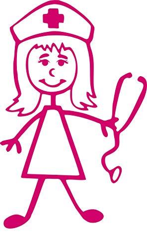 Cayay Aufkleber für Krankenschwester, Stickerei, Stethoskop, Pflegerin, RN, Vinyl, Auto-Aufkleber, Laptop, Fensteraufkleber, Yeti-Aufkleber -