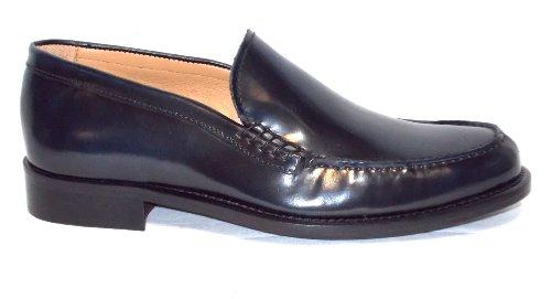Brawn's moccasin Peau chaussure Homme fondo Peau 6 Cordovan Blu Blu