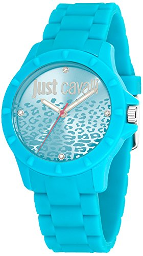 Just Cavalli Women's Quartz Watch with Blue Dial Analogue Display and Blue Rubber Bracelet R7253599509
