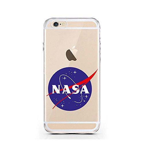 iPhone 7 Hülle von licaso® für das Apple iPhone 7 aus TPU Silikon Not my PROB-LLAMA Lama Spucke Style Muster ultra-dünn schützt Dein iPhone 7 & ist stylisch Schutzhülle Bumper in einem (iPhone 7, PROB NASA