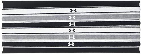 Under Armour Damen UA Mini Headbands Stirnband, Mehrfarbig Black / Steel / White, One Size, 1er Pack 1 x 6 Stück