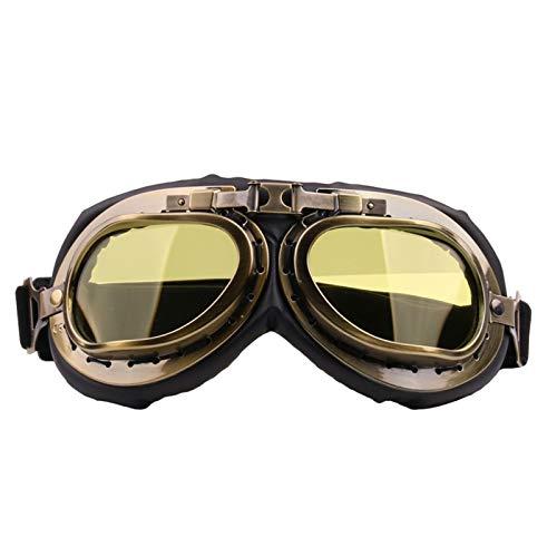 Beydodo Damen Herren Schutzbrille Motorradbrille Nacht Arbeitsbrille Brillenträger Schutzbrille zum Schießen Gelb