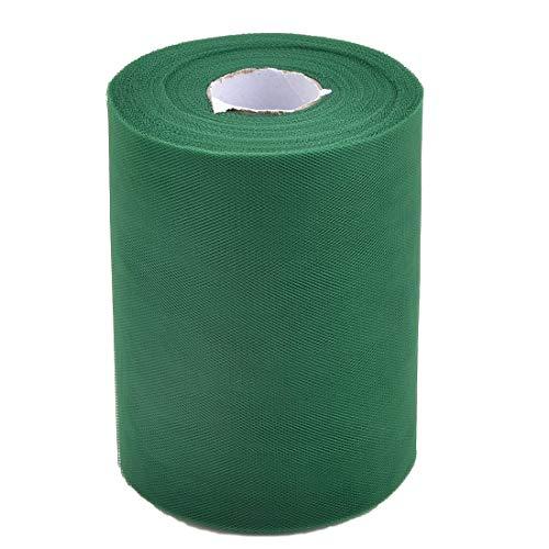 ZCHXD Polyester Feast DIY Tutu Notebook Decor Tulle Spool Roll 6 Inch x 100 Yards Dark Green -