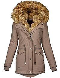 04ab0aca9793 Navahoo 2in1 Damen Winter Jacke Parka Mantel Winterjacke warm Fell B365