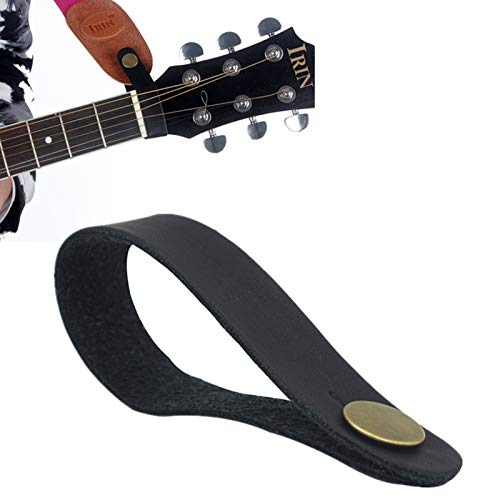 OriGlam Premium Gitarrengurt, Leder-Gitarrengurt, Knopf, Leder-Gitarren-Hals-Gurt, Knopf für Gitarren-Kopfplatte, Anti-Kupfer, geeignet für Akustik-, E-, Bass-Gitarren, Ukulele-Gurte