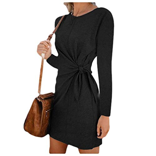 CuteRose Women Tie Front Knot Skinny Short Sleeve Business Party Bodycon Dress 8 XL - Juicy Couture Velour