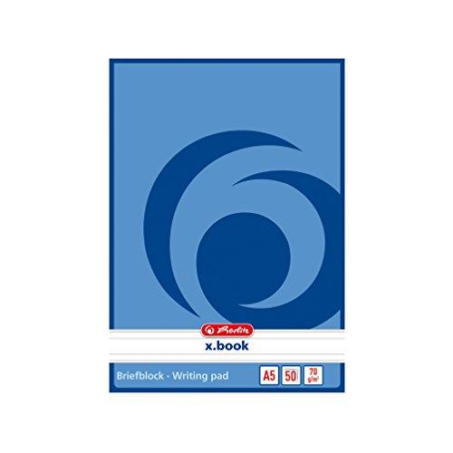 5x Herlitz Briefblock / Schreibblock / DIN A5 / liniert