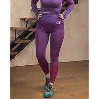 HERA Leggings Annea Sport Color Violeta. Tallas M y L. Sin costruras y con Patrones Que acentuan tu Figura.