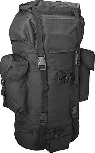 normani BW-Kampfrucksack, 65 Liter mit gepolsterte & verstellbare Rückentragegurte Farbe Schwarz