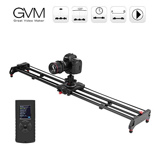GVM Kamera Slider Track Dolly Slider Schienensystem mit motorisierten Zeitraffer und Video Shot Follow Focus Shot und 120 Grad Panorama Shooting Für Fotografie und Film 120cm
