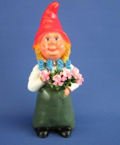 Gartenfigur Zwergen-Frau Höhe 35 cm Zwergfigur aus Kunststoff