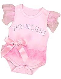 S/äugling Baby M/ädchen Ostern Kleidung Neugeborenen R/üschen Strampler Cartoon Bunny Bodysuit Sommer Outfit