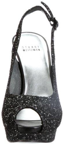 Stuart Weitzman Avalon, Sandali donna nero (Schwarz/black glitter)