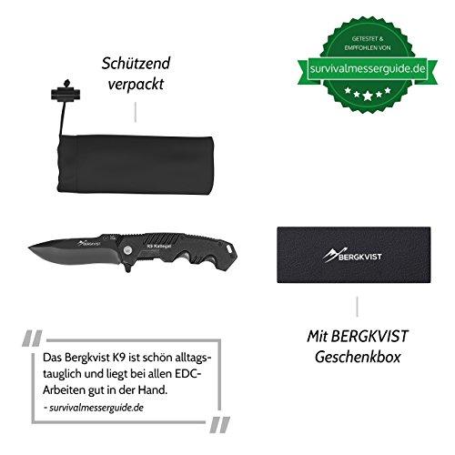 BERGKVIST Klappmesser extra scharf | Outdoor Taschenmesser | Einhandmesser Abbildung 3