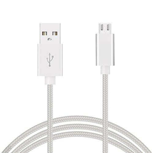 Micro USB Kabel, micro usb kabel 3m, micro usb kabel nylon geflochten, micro usb kabel weiß, Micro USB Kabel 3 Meter Sync Data Kabel, USB auf Micro USB, Ladekabel schnell 2A, Handy Ladekabel, Micro USB 2.0 Kabel, USB Kabel, Android-Kabel, Netzteil und USB Daten, Ladekabel für Android wie Samsung Galaxy S7 S7 Edge S6 Edge S6 S5 S4 S3 Note 4 3 2 HTC One X V S m9 M8 LG Sony Nexus 5 6 7 8 9 10 Motorola BQ, mp3-mp4, externe Akkus, usw. Weiß