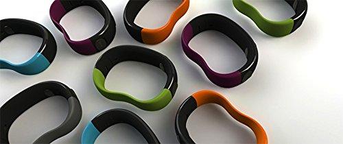 Phyode W/ME - Bracciale con Bluetooth per iPhone 4S / iPod Touch / iPad 3, colore: Arancio albicocca Grigio ardesia, acqua blu linea verde, lino bordeaux,