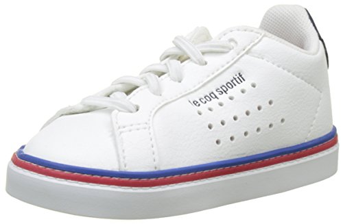 Le Coq Sportif Unisex Baby Courtace Inf Sport Optical White/Dress B Stiefel, Beige Blue Blanc, 26 EU (Coq Le Schuhe)