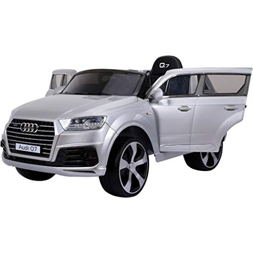 Superkids Store Original Licensed Q 7 Lifted. Electric Ride on car for Kids Eva Wheels Leather seat (Grey) - Car Kids Ride On Mercedes