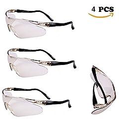 Idea Regalo - Occhiali protettivi per occhiali protettivi per occhiali protettivi per occhiali protettivi in acciaio inossidabile per bambini per bambini Nerf N-Strike Elite Gun Toy Gun Game Protection (4Pcs)