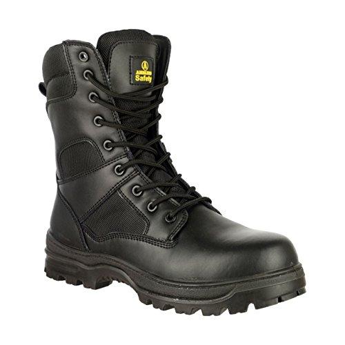 Amblers Chaussures De Protection En Cuir Pour Homme Noir Noir