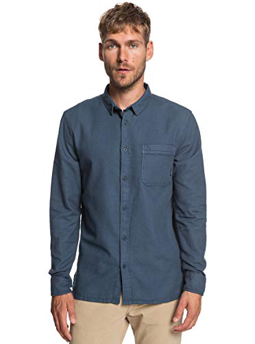 Quiksilver - Camisa Manga Larga - Hombre - L - Azul
