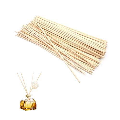 Stick-duft-Öl (100X Toruiwa Rattanstäbchen Reed Diffusor Stöcke Holzstäbchen Duft Ätherisches Öl Aroma Diffuser Ersatz Sticks (3mm*30cm))