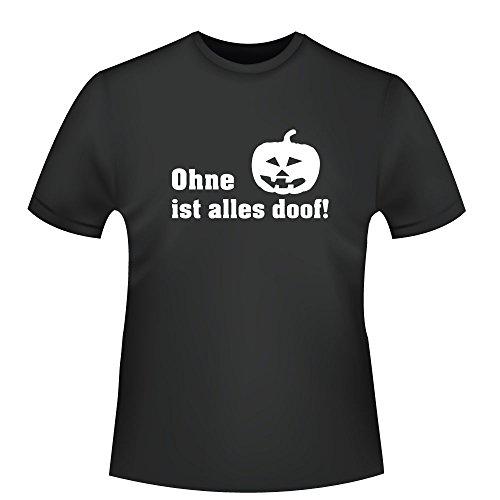 lles doof!, Herren T-Shirt - Fairtrade - , Größe XL, schwarz (Halloween Doof)