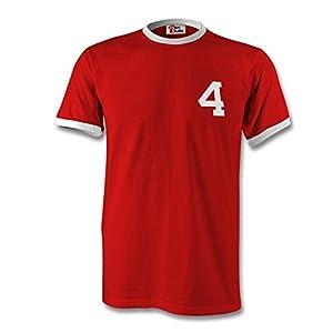 Steven Gerrard 4 England Country Ringer T-Shirt Red/White - Small
