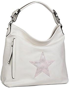 bd4668baa7dd4 styleBREAKER Shopper Handtasche im Vintage Look mit Stern