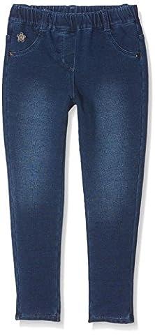 Bóboli Baby-Mädchen Hose Fleece Denim Trousers For Girl Blau (Blue), 86
