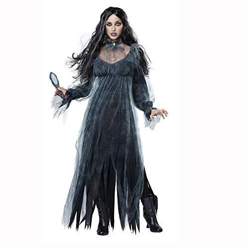 Yunfeng Hexenkostüm Damen Halloween Hexe-Uniformen-Tag der Toten Vampir Königin Kostüme Braut Geisterkostüm