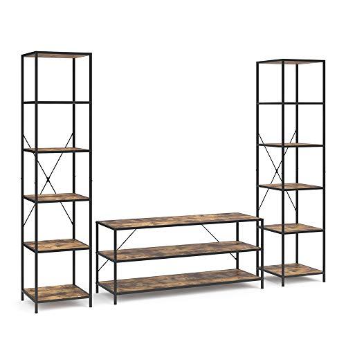 Vicco Loft Set Fyrk Standregal Bücherregal Fernsehtisch Sideboard Wandregal Holz Regal