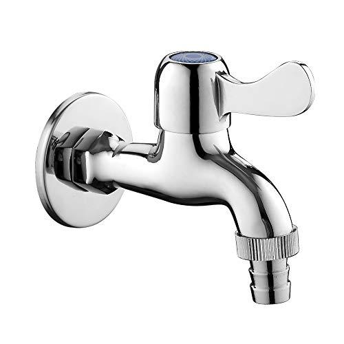 GRIFEMA COMPLENTOS-G202 | Wasserhahn für Ausgußbecken, Waschmaschine, Auslaufventil, Ventil 1/2\'\' | Kaltwasser Wandarmatur für Garten, Haushalt und Industrie, Messing, Oberfläche Chrom