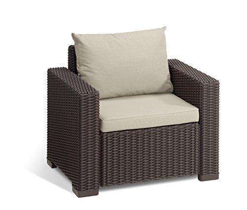 Koll Living 2 Sessel San Diego in braun, passend für Loungeset, Möbelset und Gartenmöbel in...