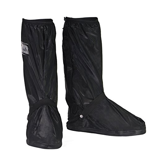 HSEAMALL Overshoes Reusable Waterproof Shoes Cover,Biking Cycling Slip-Resistant Zippered Shoe Cover Rain Boot Protector