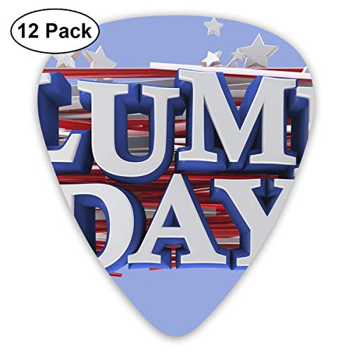 Columbus Day Weekend Guitar Picks - 12 pack,0.46/0.73/0.96 Mm Guitar