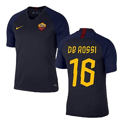 e9544334d89 2019-2020 AS Roma Nike Training Football Soccer T-Shirt (Obsidian) (Daniele  De Rossi 16)