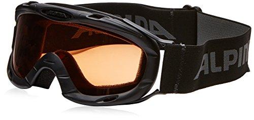ALPINA Kinder Skibrille Ruby S, Rahmenfarbe: Black, Linsenfarbe: Slh S1, One size, 7050433